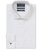 Euro Tailored Fit Shirt White Indigo Sport Print