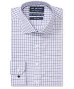 Euro Tailored Fit Shirt Indigo Multi Lined Checks