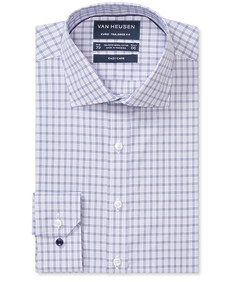 Euro Tailored Fit Shirt Indigo Multi Lined Checks