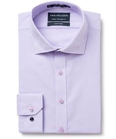 Euro Tailored Fit Shirt Mauve Diamond Checks