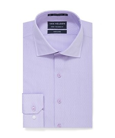 Euro Tailored Fit Shirt Lilac Dobby