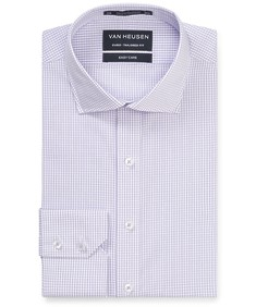 Euro Tailored Fit Shirt Lilac Outline Check