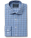 Euro Tailored Fit Shirt Blue Tone Check