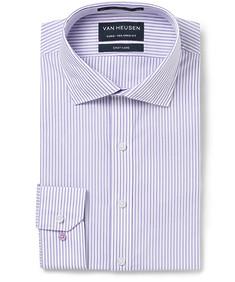 Men's Euro Fit Shirt Mauve Candy Stripe