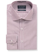 Euro Tailored Fit Shirt Red Bengal Stripe