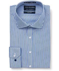 Euro Tailored Fit Shirt Navy Bengal Stripe