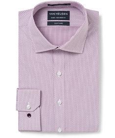 Men's Euro Fit Shirt Oxblood Broken Stripe
