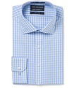 Euro Tailored Fit Shirt Turquoise Check