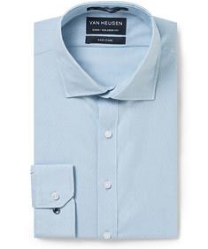 Men's Euro Fit Shirt Duck Blue Mini Stripe