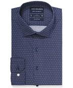 Euro Tailored Fit Shirt Deep Navy Dots