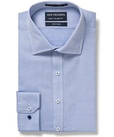 Men's Euro Fit Shirt Navy White Jacquard