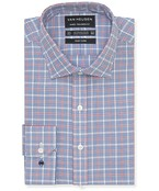 Euro Tailored Fit Shirt Navy Gingham Window Check