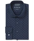 Euro Tailored Fit Shirt Indigo Dot Print
