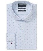Euro Tailored Fit Shirt Blue Rose Print