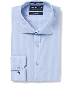 Men's Euro Fit Shirt Blue Pinstripe