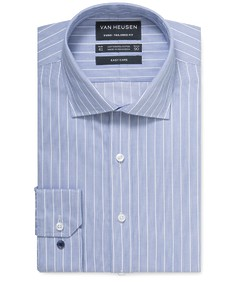 Euro Tailored Fit Shirt Navy White Stripe