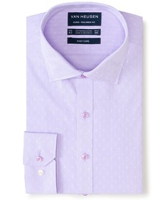 Euro Tailored Fit Shirt Raised Dobby Print