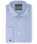 Euro Tailored Fit Shirt Herringbone Detail