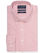Euro Tailored Fit Shirt Peach Small Check