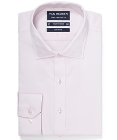 Euro Tailored Fit Shirt Solid Petal Pink