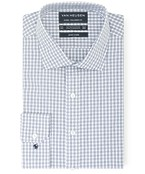 Euro Tailored Fit Shirt Indigo Fine Line Check