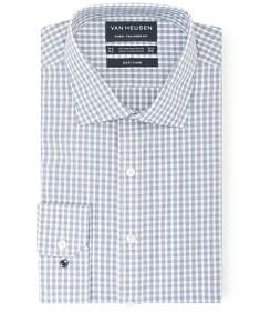 Euro Tailored Fit Shirt Indigo Fine Line Check