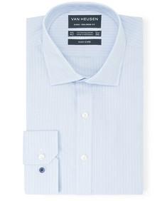 Euro Tailored Fit Shirt Blue Surf Vertical Stripe