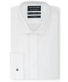 Euro Tailored Fit Shirt White Diamond Textured
