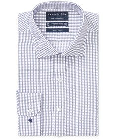 Euro Tailored Fit Shirt Window Check Twill