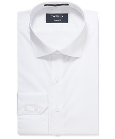 Euro Tailored Fit Shirt White Stretch