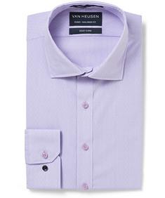 Men's Euro Fit Shirt Mauve Mini Stripe