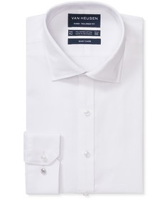 Euro Tailored Fit Shirt White Jacquard