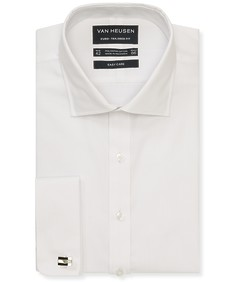 Euro Tailored Fit Shirt White Jacquard French Cuff