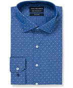 Euro Tailored Fit Shirt Blue Diamond Print