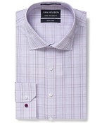 Euro Tailored Fit Shirt Mauve and Ox Check