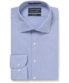 Euro Tailored Fit Shirt Navy Dobby Diamonds