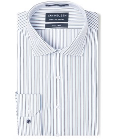 Euro Tailored Fit Shirt Blue Indigo Stripe