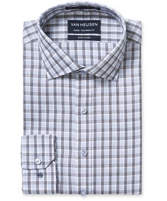Euro Tailored Fit Shirt Blue Black Large Check