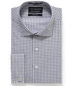 Euro Tailored Fit Shirt Fade Check French Cuff