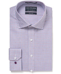 Euro Tailored Fit Shirt Pink and Blue Check