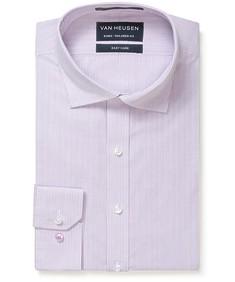 Euro Tailored Fit Shirt Mauve Mini Grid Check