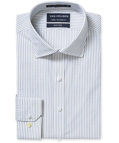 Euro Tailored Fit Shirt Yellow and Green Check