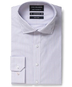 Euro Tailored Fit Shirt Multi Line Check