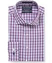 Euro Tailored Fit Shirt Grape Multi Check