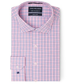 Euro Tailored Fit Shirt Pink Glen Check
