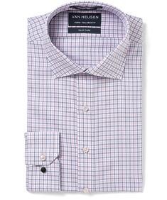 Men's Euro Fit Shirt Pink Indigo Check