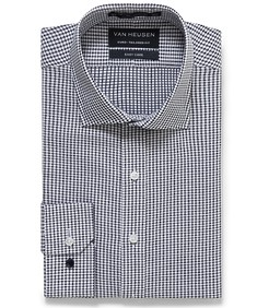 Euro Tailored Fit Shirt Dobby Textured Check