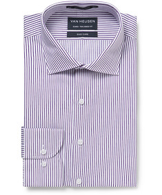 Euro Tailored Fit Shirt Purple Vertical Stripe