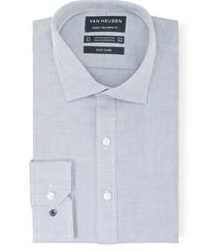 Euro Tailored Fit Shirt Indigo Dobby Dot Print