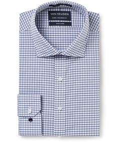 Men's Euro Fit Shirt Grey Navy Check